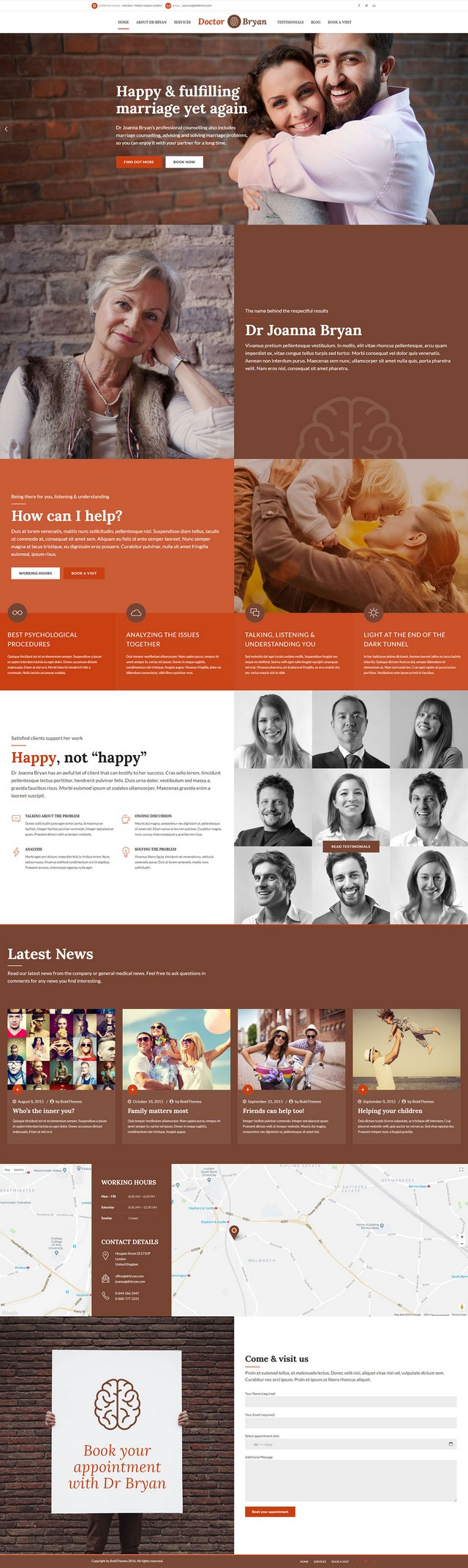 health and medical wordpress theme Medicare homepage layout for Pshychiatrist